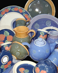 An array of Jane Forrester's pots